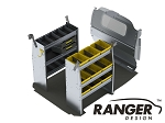 Ranger Design Base Aluminum Shelving Package for Nissan NV200 and Chevy City Express