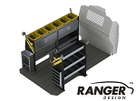 Ranger Design Deluxe Steel Electrical Shelving Package for Mercedes Metris 135in Wheelbase