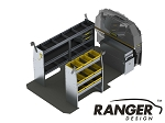 Ranger Design Deluxe Aluminum Shelving Package for Mercedes Metris 135in Wheelbase