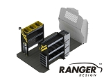 Ranger Design Base HVAC Steel Shelving Package for Mercedes Metris 126in Wheelbase