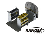 Ranger Design Base Aluminum Shelving Package for Mercedes Metris 126in Wheelbase