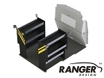 Ranger Design Base Contractor Steel Shelving Package for the ProMaster City