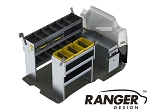 Ranger Design Aluminum Shelving Package for Long Wheelbase Transit Connect (2014+)