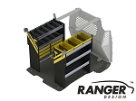 Ranger Design Service Steel Shelving Package for Short Wheelbase Transit Connect (2014+)