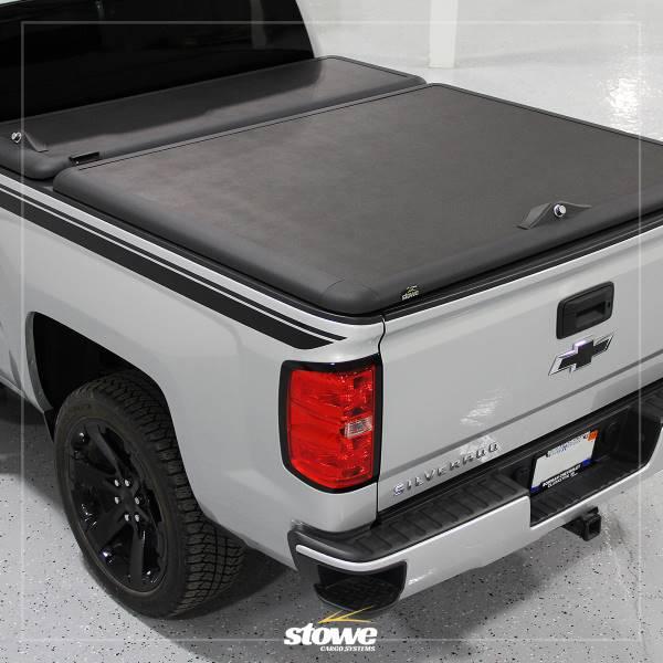 Stowe Tool Box Hinged Tonneau Cover For Chevy Silverado Gmc Sierra Truck Bed