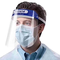 Pack of 10 FDA Approved PET Face Shields