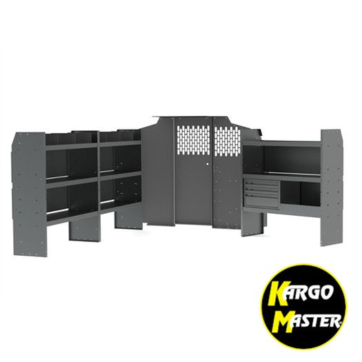 Kargo Master Metris Commercial Steel Van Shelving Package
