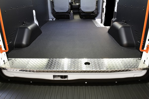 Kargo Master Diamond Plated Aluminum Side and Rear Threshold for the Ford Transit