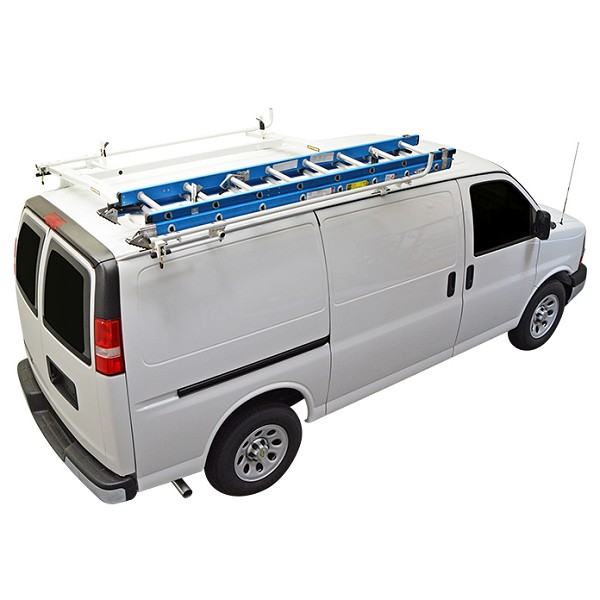 Kargo Master A-Series Industrial Clamp & Lock Ladder Rack Combo for GMC Savana/Chevy Express