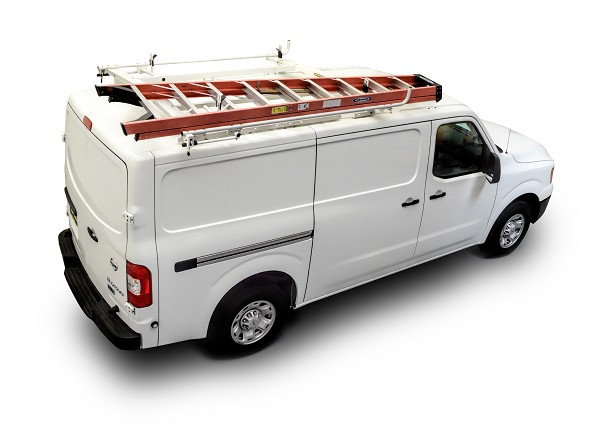 Kargo Master A-Series Clamp & Lock Ladder Rack for Low Roof Ford Transit and Standard Roof Nissan NV