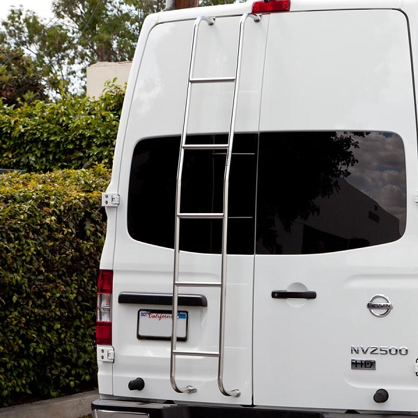 Surco Stainless Steel Van Ladder for High Roof Nissan NV
