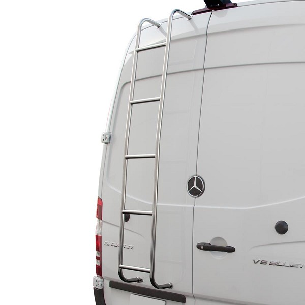 Surco Stainless Steel Van Ladder for Mercedes Sprinter Low Roof (Up to 2006)