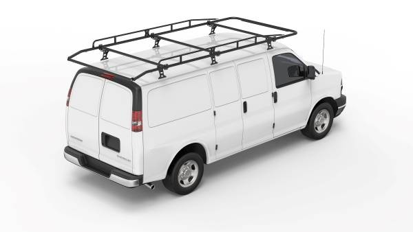Kargo Master A-Series Material Van Rack with Rear Roller Bar