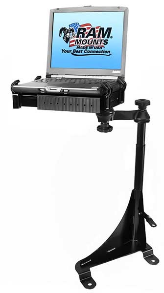 Ram No-Drill Laptop Mount for Chevy Express and GMC Savana