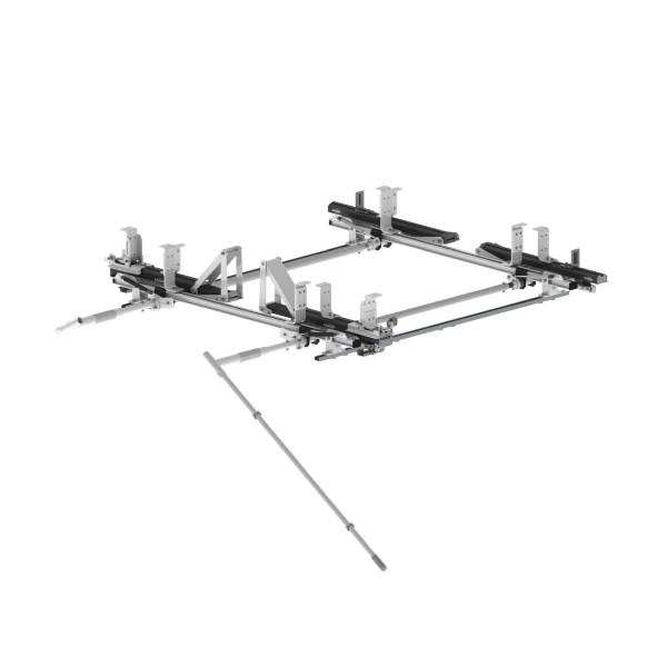 Ranger Design Max Rack 2.0 Double Drop Down Ladder Rack for Nissan NV High Roof