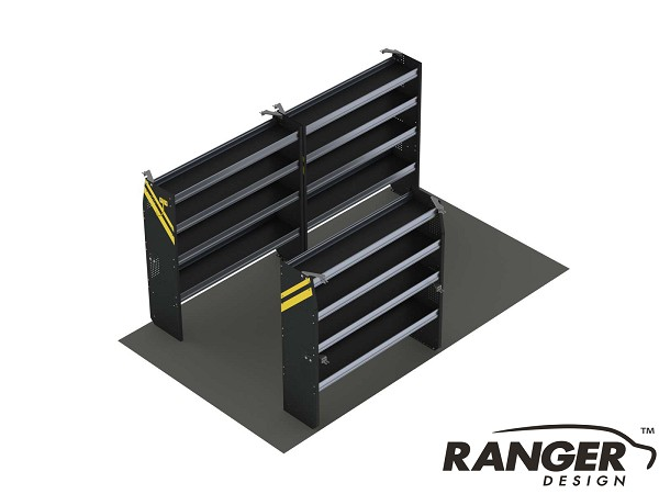 Ranger Design 14 Foot Box Truck Contractor Shelving Package