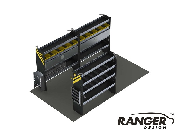 Ranger Design 14 Foot Box Truck Electrical Shelving Package