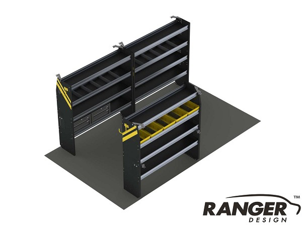 Ranger Design 14 Foot Box Truck Service Steel Shelving Package