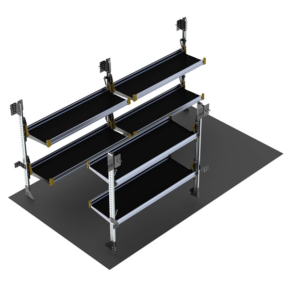 Ranger Design 14 Foot Box Truck Delivery Fold-Away Shelving Package