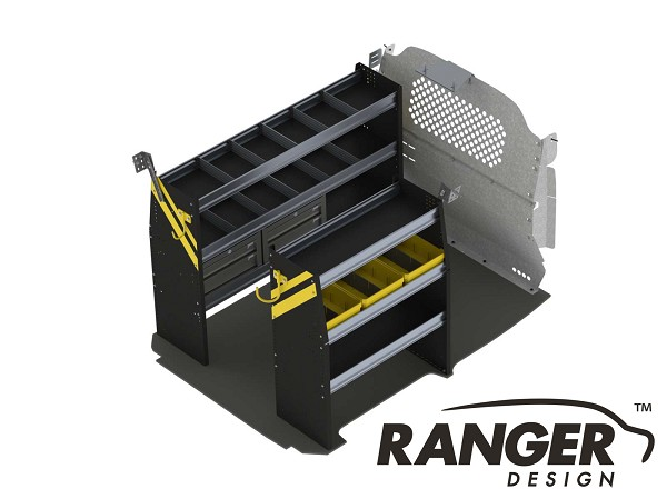 Ranger Design Deluxe Service Steel Shelving Package for Nissan NV200 and Chevy City Express
