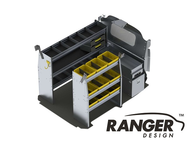 Ranger Design Deluxe Aluminum Shelving Package for Nissan NV200 and Chevy City Express