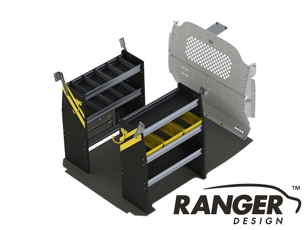 Ranger Design Base Service Steel Shelving Package for Nissan NV200 and Chevy City Express