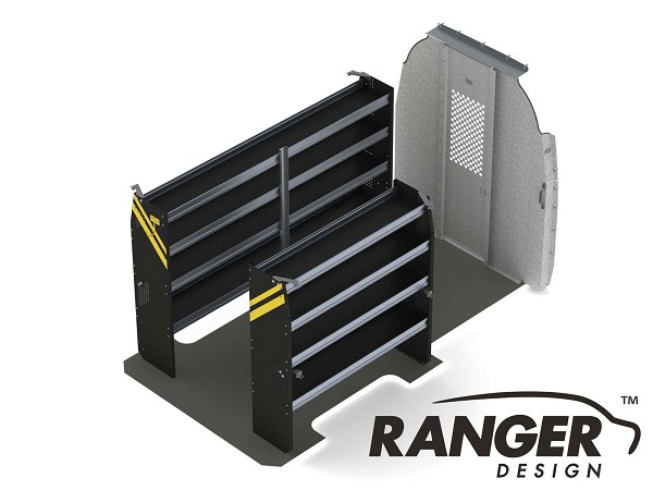 Ranger Design Base Contractor Steel Shelving Package for 144