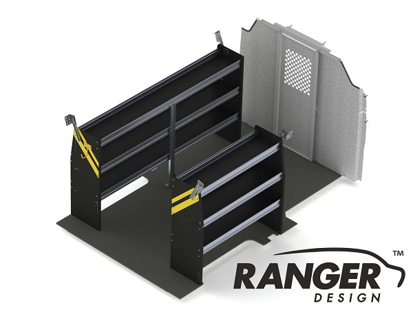 Ranger Design Contractor Steel Shelving Package for the 130