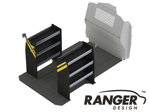 Ranger Design Base Steel Contractor Shelving Package for Mercedes Metris 126