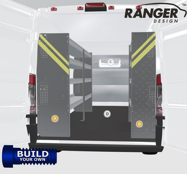 Ranger Design Build Your Own ProMaster Steel Shelving Package for 159