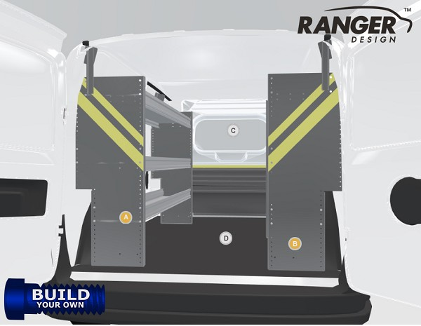 Ranger Design Build Your Own ProMaster City Shelving Package
