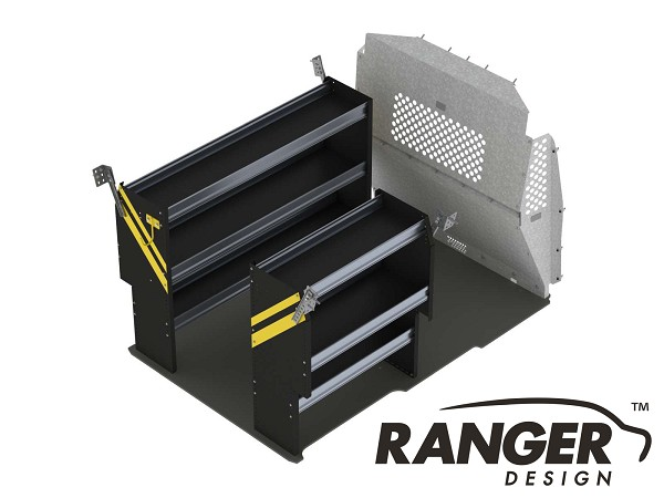 Ranger Design Deluxe Contractor Steel Shelving Package for the ProMaster City