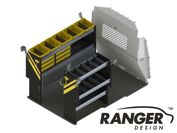 Ranger Design Deluxe Electrical Steel Shelving Package for ProMaster City