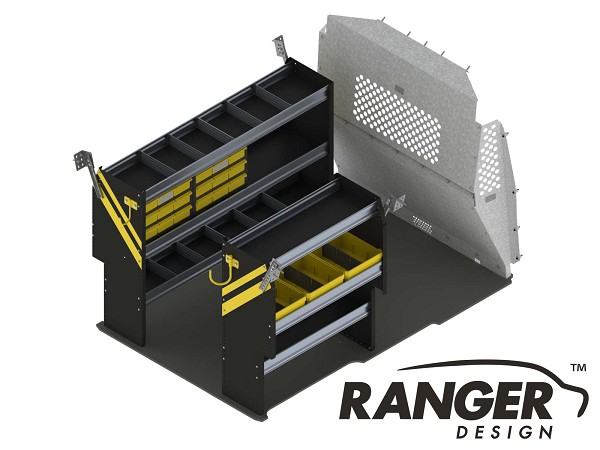 Ranger Design Deluxe Service Steel Shelving Package for ProMaster City