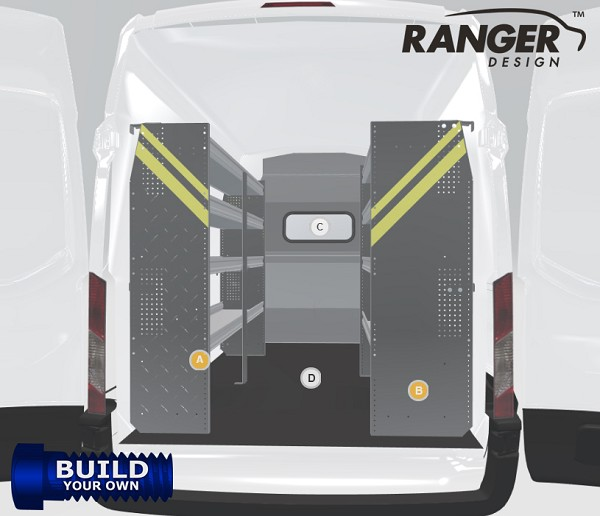 Ranger Design Transit Mid/High Roof Build Your Own Shelving Package for 148