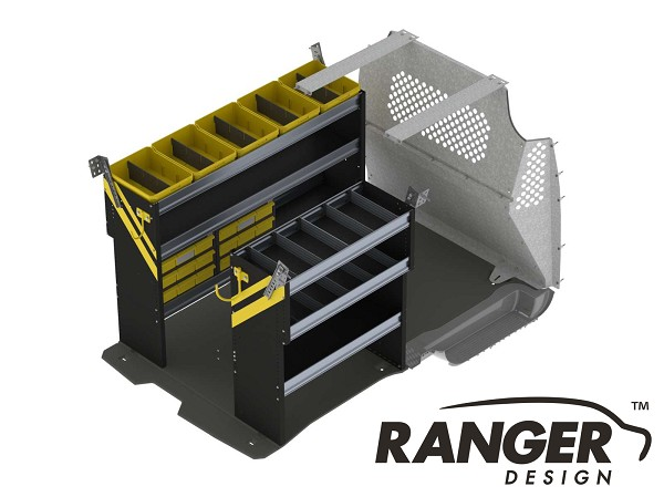 Ranger Design Electrical Steel Shelving Package for Long Wheelbase Transit Connect (2014+)