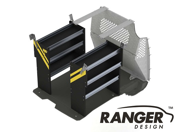 Ranger Design Contractor Steel Shelving Package for Short Wheelbase Transit Connect (2014+)