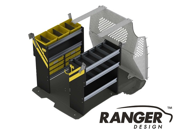 Ranger Design Electrical Steel Shelving Package for Short Wheelbase Transit Connect (2014+)