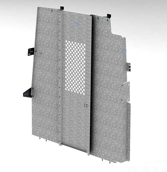 Ranger Design Steel Swing Door Partition with Perforated Window for Nissan NV High Roof