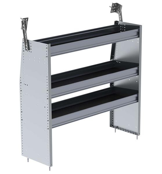 Ranger Design Aluminum 48in Shelving Unit for Low Roof and Compact Vans