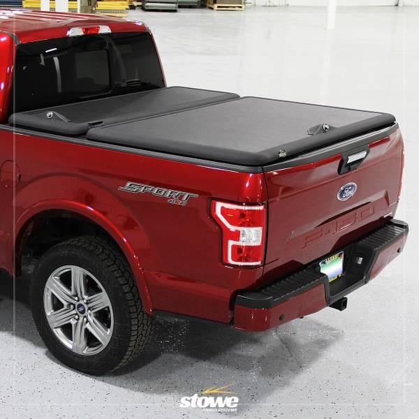 Stowe Cargo System Tool Box Hinged Tonneau Cover for Ford F150